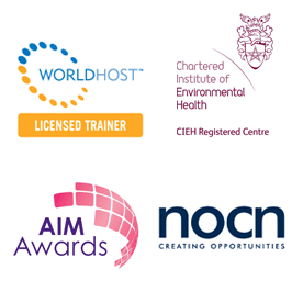 Worldhost Licensed Trader, Chartered Institute of Environmental Health - CEIH Registered Centre, Aim Awards, NOCN